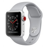 Apple Watch Series 3 (GPS + Cellular) -38mm Silver Aluminum Case with Fog Sport Band-MQJN2