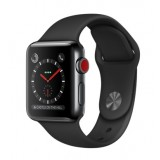 Apple Watch Series 3 (GPS + Cellular) -38mm Space Black Stainless Steel Case with Black Sport Band-MQJW2