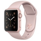 Apple Watch  38mm Rose Gold Aluminum Case with Pink Sand Sport Band -MNNY2