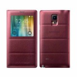 Note 4 S-View Flip Cover -Plum Red