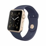 Apple Watch Sport  42mm Gold Aluminum Case with Midnight Blue Sport Band -MLC72