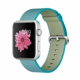 Apple Watch Sport 42mm Silver Aluminum Case with Scuba Blue Woven Nylon -MMFN2