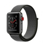 Apple Watch Series 3 (GPS + Cellular) -38mm Space Gray Aluminum Case with Dark Olive Sport Loop-MQJT2