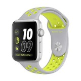 Apple Watch Nike+ 42mm Silver Aluminum Case with Flat Silver/Volt Nike Sport Band-MNYQ2