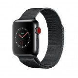 Apple Watch Series 3 (GPS + Cellular) -38mm Space Black Stainless Steel Case with Space Black Milanese Loop-MR1H2