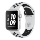 Apple Watch Nike+ Series 3 (GPS) 38mm Silver Aluminum Case with Pure Platinum/Black Nike Sport Band-MQKX2