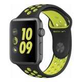 Apple Watch Nike+ 42mm Space Gray Aluminum Case with Black/Volt Nike Sport Band-Mp0A2