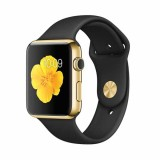 Apple Watch Edition -38mm 18-Karat Yellow Gold Case with Black Sport Band