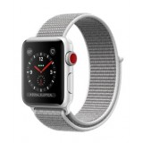 Apple Watch Series 3 (GPS + Cellular) -38mm Silver Aluminum Case with Seashell Sport Loop-MQJR2