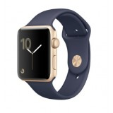 MQ122 Apple Watch -42MM gold aluminium case with black sport band