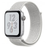 Apple Watch Nike+ Series 4 GPS 40mm Silver Aluminum Case with Summit White Nike Sport Loop -MU7F2AE