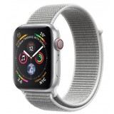 Apple Watch Series 4 GPS + LTE 40mm Silver Aluminum Case with Seashell Sport Loop -MTUF2