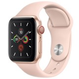 Apple Watch Series 5 MWWD2 GPS + Cellular -40mm Gold Aluminum Case with Pink Sand Sport Band Price Dubai