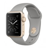 mnp22 Apple Watch -38mm Gold Aluminum Case with Concrete Sport Band