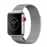 Apple Watch Series 3 (GPS + Cellular) -38mm Stainless Steel Case with Milanese Loop-MR1F2