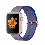 Apple Watch Sport 38mm Rose Gold Aluminum Case with Royal Blue Woven Nylon -MMF42