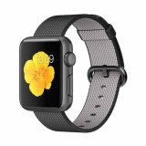 Apple Watch Sport 38mm Space Gray Aluminum Case with Black Woven Nylon -MMF62