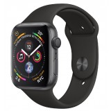 Apple Watch Series 4 GPS 44mm Space Gray Aluminum Case with Black Sport Band -MU6D2AE