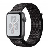 Apple Watch Nike+ Series 4 GPS 44mm Space Gray Aluminum Case with Black Nike Sport Loop -MU7J2AE