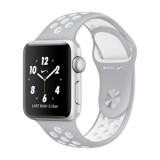 Apple Watch Nike+ 38mm Silver Aluminum Case with Flat Silver/White Nike Sport Band-MNNQ2