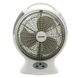 Sonashi 12'' Rech Oscillating Fan /Super Briht Led 10 Pcs(With 18 Hrs Working)
