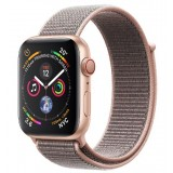 Apple Watch Series 4 GPS + Cellular 44mm Gold Aluminum Case with Pink Sand Sport Loop -MTVX2AE