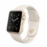 Apple Watch Sport -38mm Gold Aluminum Case with Antique White Sport Band -MLCJ2