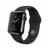 Apple Watch -42mm Space Black Stainless Steel Case with Black Sport Band -MLC82