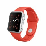 Apple Watch Sport -42mm Silver Aluminum Case with Orange Sport Band -MLC42