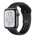 Apple Watch Nike+ Series 4 GPS + Cellular 44mm Space Gray Aluminum Case with Anthracite/Black Nike Sport Band -MTXM2AE
