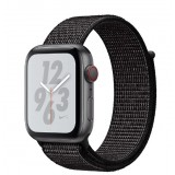 Apple Watch Nike+ Series 4 GPS + Cellular 44mm Space Gray Aluminum Case with Black Nike Sport Loop -MTXL2AE
