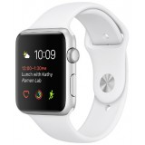 Apple Watch 42mm Silver Aluminium Case with White Sport Band- MNNL2