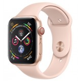 Apple Watch Series 4 GPS + Cellular 44mm Gold Aluminum Case with Pink Sand Sport Band -MTVW2AE
