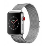 Apple Watch Series 3 (GPS + Cellular) -42mm Stainless Steel Case with Milanese Loop-MR1J2