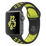 Apple Watch Nike+ 38mm Space Gray Aluminum Case with Black/Volt Nike Sport Band-MP082