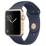 MQ102 Apple Watch -38MM gold aluminium case with black sport band