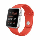 Apple Watch Sport -38mm Silver Aluminum Case with Orange Sport Band-MLCF2