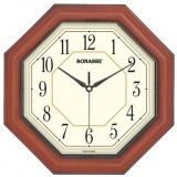 Sonashi Wall Clock (Dark Brown & Wood Color)