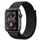 Apple Watch Series 4 GPS 44mm Space Gray Aluminum Case with Black Sport Loop -MU6E2AE