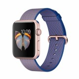 Apple Watch Sport 42mm Rose Gold Aluminum Case with Royal Blue Woven Nylon -MMFP2