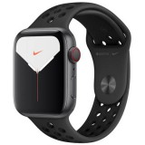 Apple Watch Nike Series 5 GPS + Cellular -44mm Space Grey Aluminium Case with Anthracite/Black Nike Sport Band -MX3F2Z